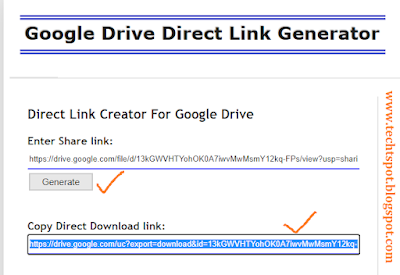 Add Direct Download Link in Blogger blog post 5