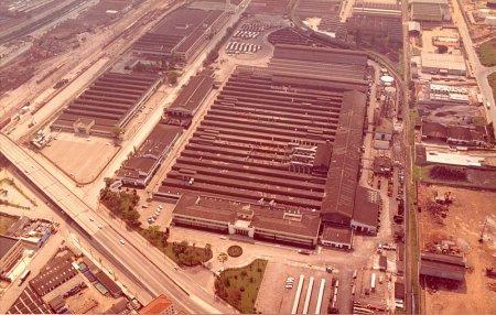 Vista aérea da Fábrica de Caminhões da Ford Brasil, no bairro do Ipiranga, em São Paulo, em 1982 (Foto: reprodução / internet)