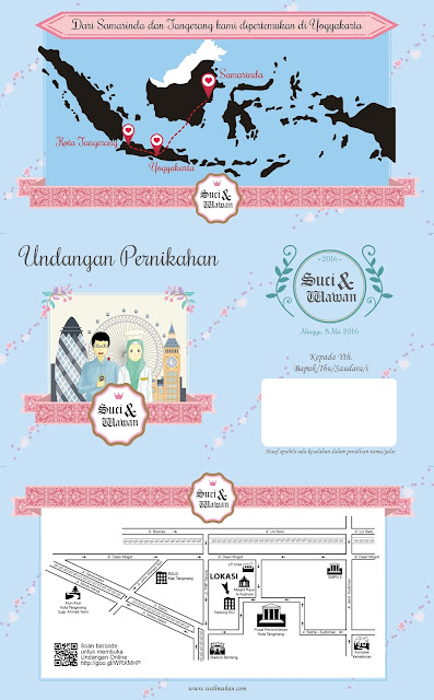 Undangan Pernikahan Murah di Tangerang dengan Tema Kartun - Walimahanid | 0812-1141-8687