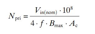 How to Calculate SMPS Transformer - Formula