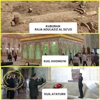 Perbedaan kuburan raja abdul aziz al-saud, kuil khomeini dan ataturk