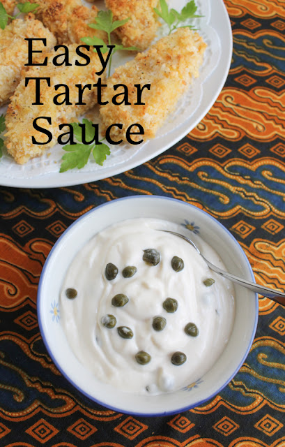Food Lust People Love: This easy tartar sauce has just three ingredients but it's my absolute favorite to accompany any fish from cod to salmon, whether deep fried, baked, poached or pan-fried.
