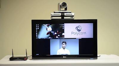 demo thiết bị hội nghị truyền hình Polycom Group 500