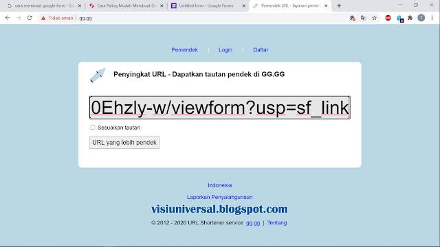 cara mudah memperpendek URL di situs GG.GG