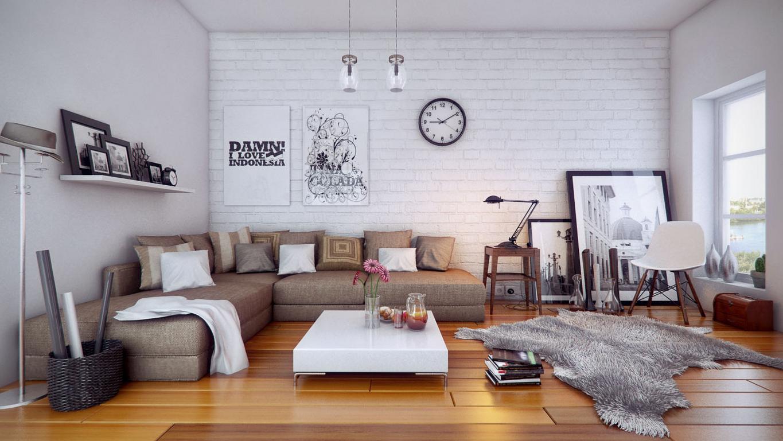 Cozy apartment design: interior design featuring wooden elements ...
