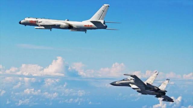 Cazas chinos realizan ejercicios militares cerca de Taiwán