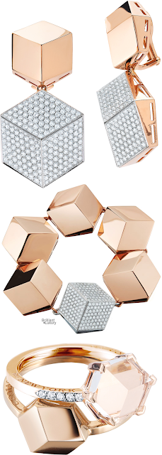 Brilliant Luxury♦Paolo Costagli Brillante® Jewelry Collection in 18ct Rose Gold ~ Diamond Earrings, Bracelet And Rings