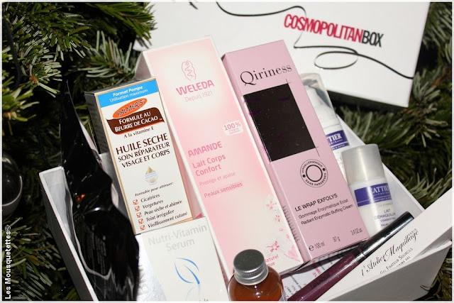 CosmopolitanBox - Palmer's - Weleda - Qiriness - Blog beauté Les Mousquetettes©