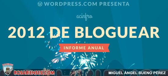 Reporte 2012 de nuestro portal wordpress de noticias rosarienses | Rosarienses, Villa del Rosario