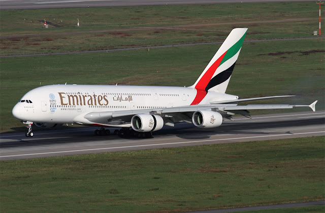 emirates a380 dusseldorf