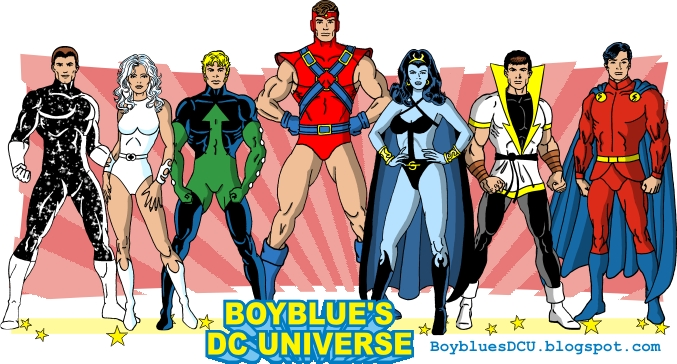 Star Boy, Dream Girl, Element Lad, Colossal Boy (costume variant), Shadow Lass,  Karate Kid, Mon-el