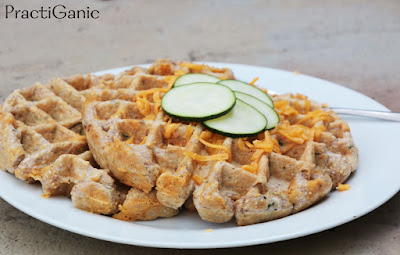 Protein-Packed Cheesy Zucchini Cornbread Waffles