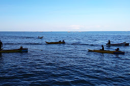 Meriah Lomba Balap Perahu di Objek Wisata Batu Piak Desa Rantebelu