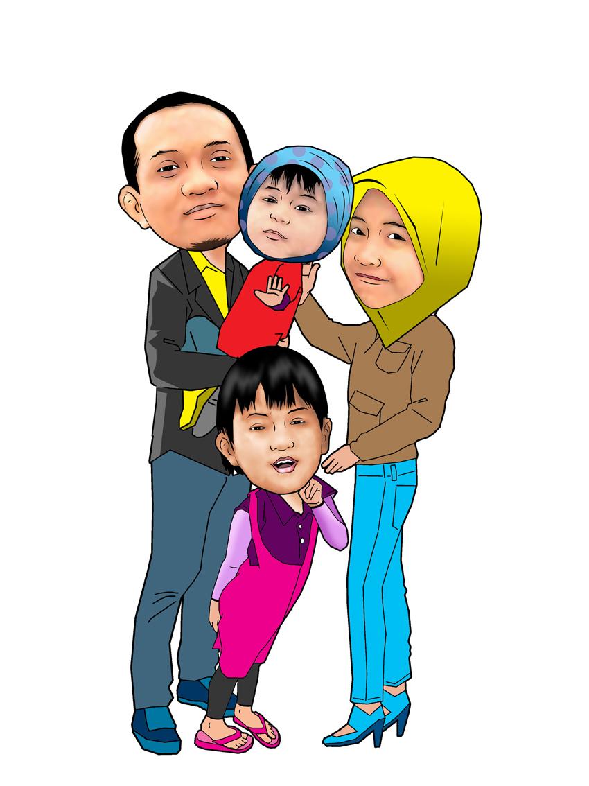 PESAN KARIKATUR MURAH Karikatur Keluarga