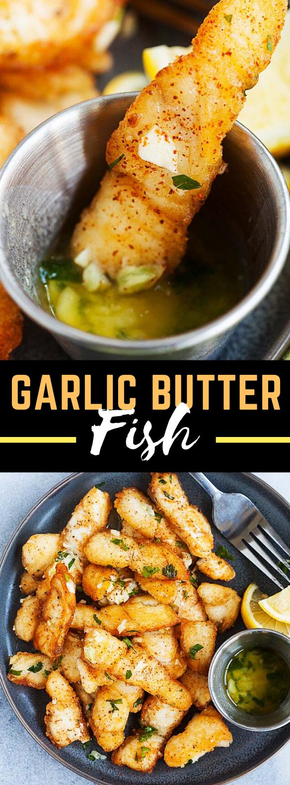 GARLIC BUTTER FISH #dinner #appetizers