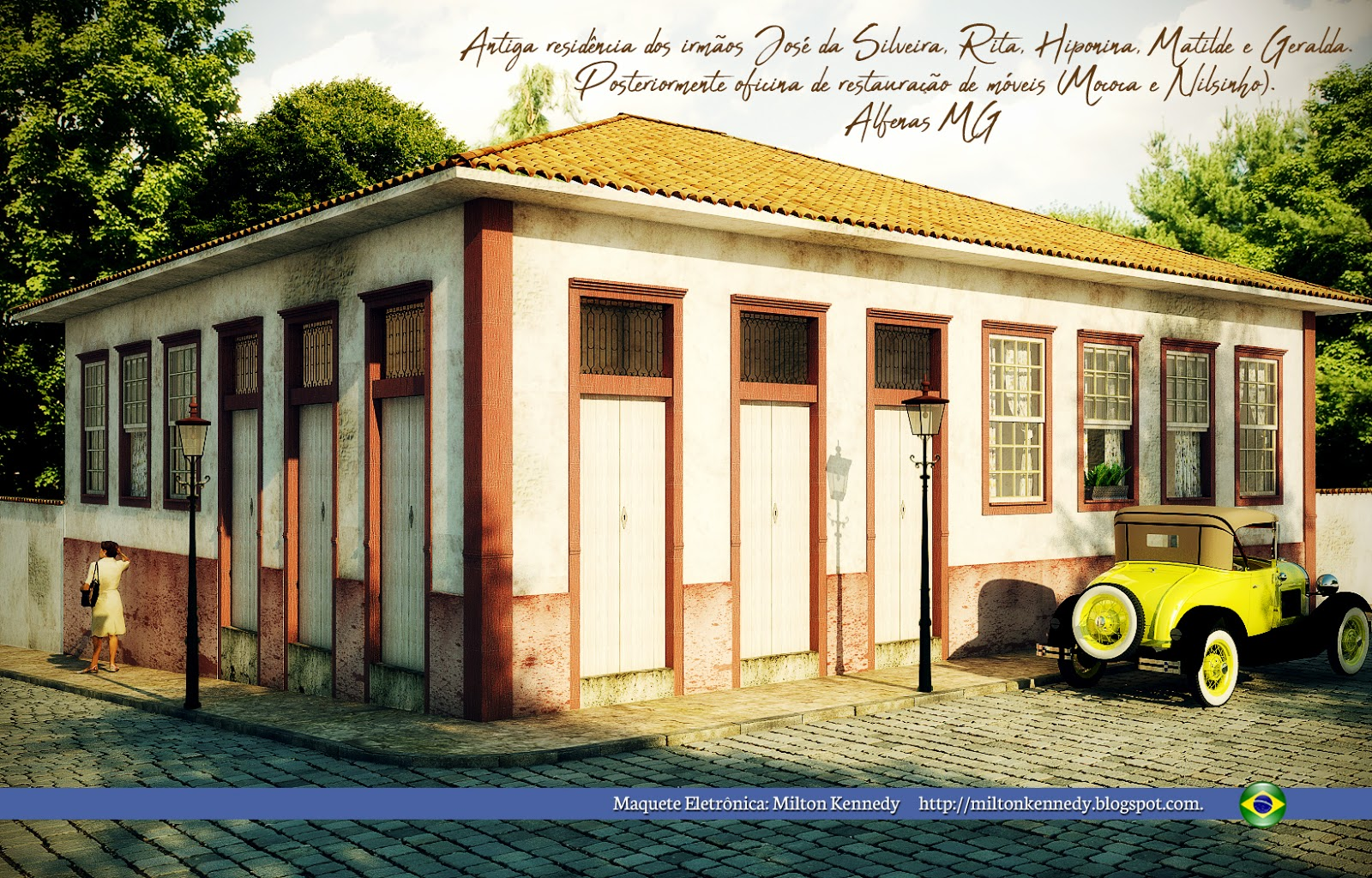 Antiga casa de Alfenas MG