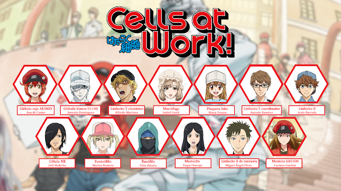 "El increíble elenco de voz de ""Cells at Work!"""
