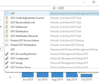 GST Pages , Reports etc coming when GST entered on search box