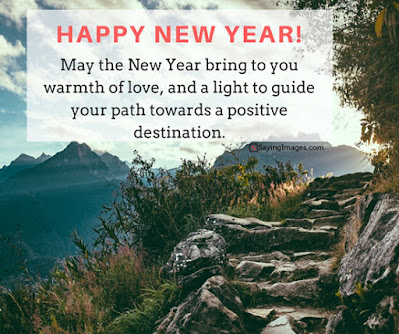 Happy new year positive message