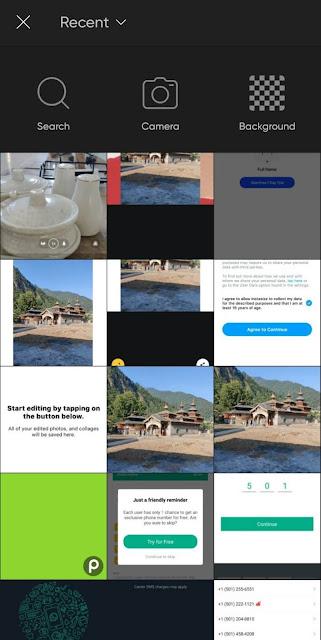 Picsart background option