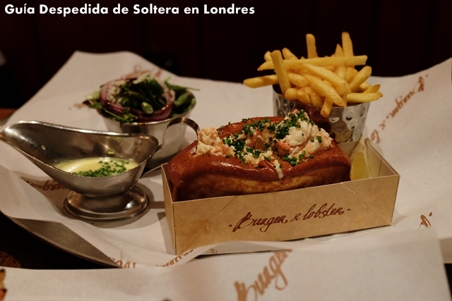 burguer & lobster - donde comer - guia despedida soltera londres