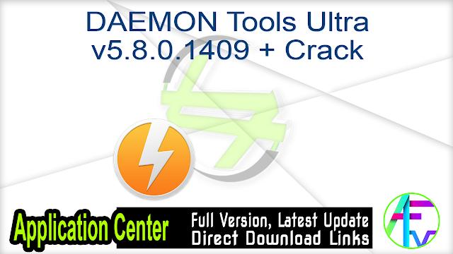 DAEMON Tools Ultra v5.8.0.1409 + Crack