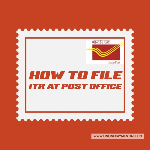 file itr at post office