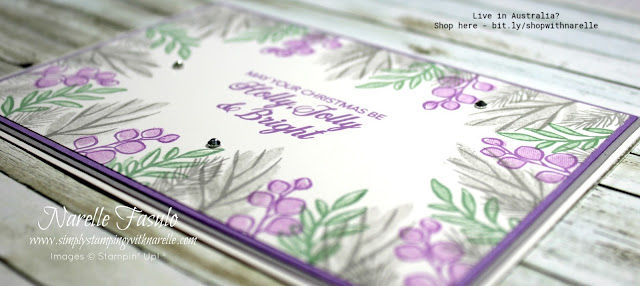 Make gorgeous Christmas cards with the beautiful Peaceful Noel stamp set - http://bit.ly/PeacefulNoelBundle
