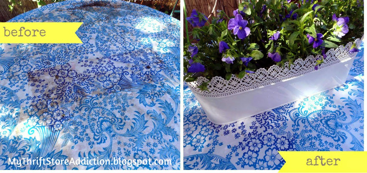 Oil cloth for outdoor tables