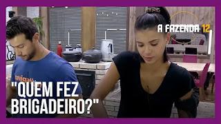 A Fazenda 12 – Mirella e Stéfani conversam – Mariano e Jakelyne preparam jantar