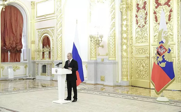 Putin at receiving credentials ceremony, November 24, 2020