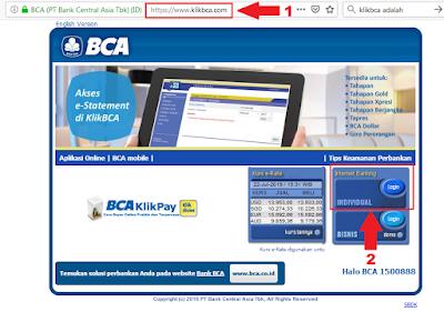 Cara Menambah Daftar Rekening Tujuan di KlikBCA / Internet Banking BCA - Halaman Utama Website KlikBCA