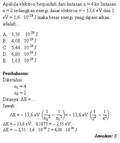 Ruang Belajar Siswa Kelas 6 Contoh Soal Fisika Nuklir
