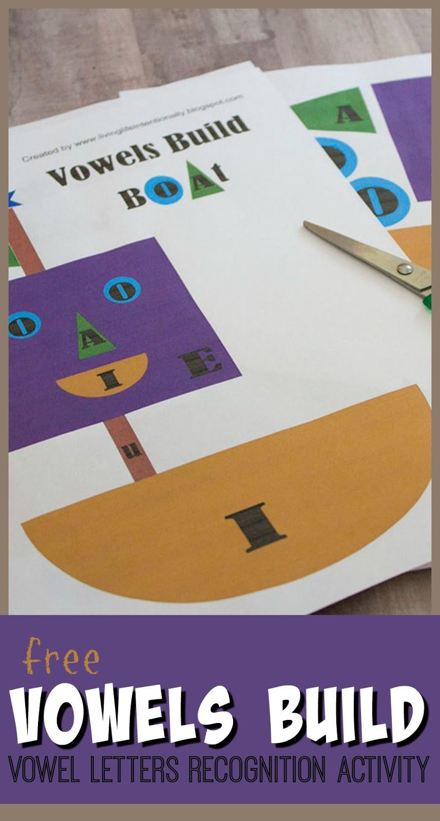 free vowel letters building activity