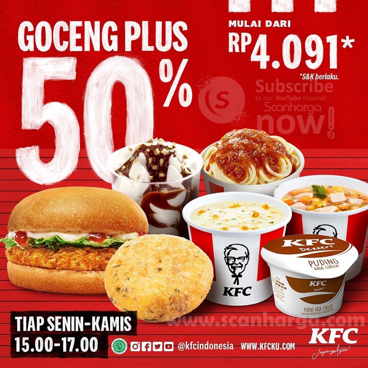 KFC GOCENG PLUS Harga Promo mulai Rp. 4.091 Aja