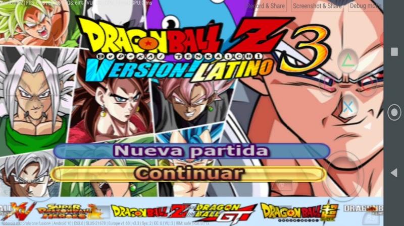 Dragon Ball Z Budokai Tenkaichi 3 MOD Version Latino PS2 ISO For Android And PC