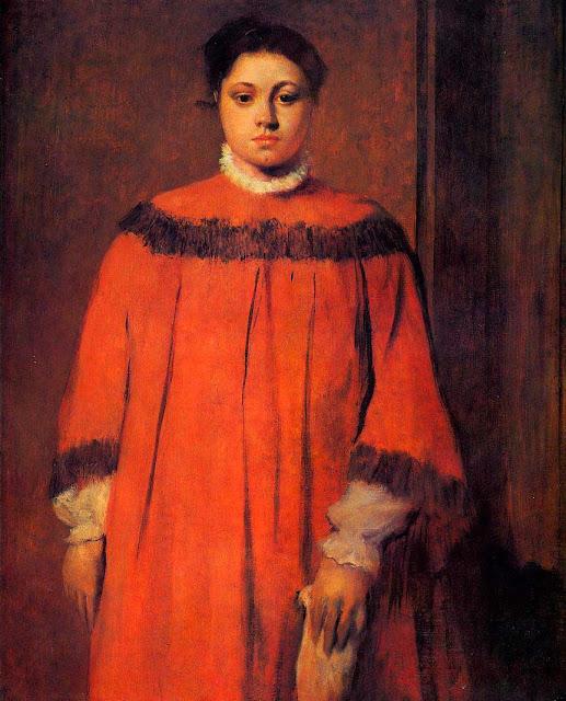 Эдгар Дега - Девушка в красном (1873-1876)