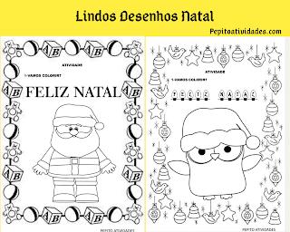 Lindos desenhos de natal para colorir e imprimir grátis