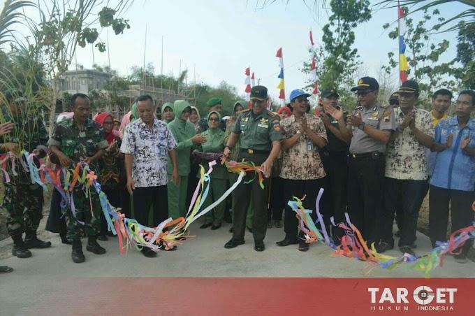 Dandim Pati Letkol Arief Darmawan S.Sos Menutup TMMD Sengkuyung Tahap III