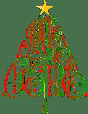 Merry Christmas Tree Letter design Image