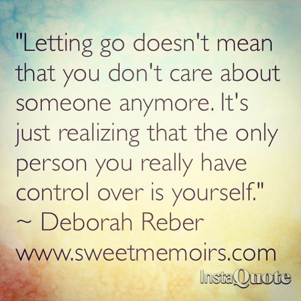 Cherry Berry Quote About Letting Go