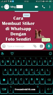 Trik Terbaru Membuat Striker Foto Kita Sendiri di Whatsapp