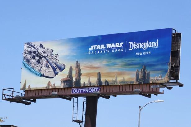 Disneyland Star Wars Galaxys Edge Millennium Falcon billboard