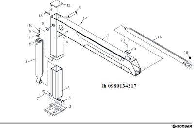 Chân của Cẩu soosan 5 tấn SCS513-SCS514-SCS505-SCS506