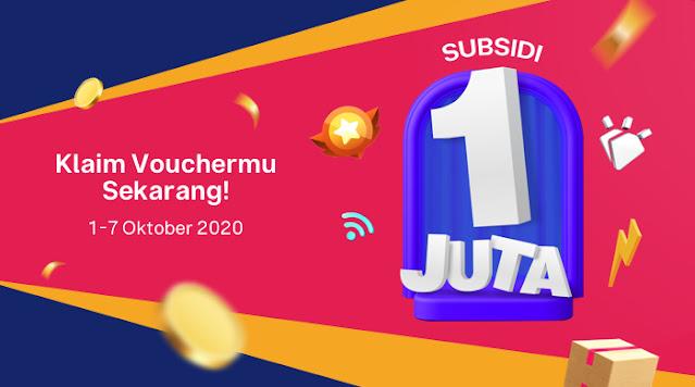 #Bukalapak - Promo Bikin Asik! Subsidi 1jt Buat Kamu! (s.d 07 Okt 2020)