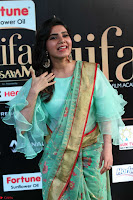Samantha Ruth Prabhu Smiling Beauty in strange Designer Saree at IIFA Utsavam Awards 2017  Day 2  Exclusive 22.JPG