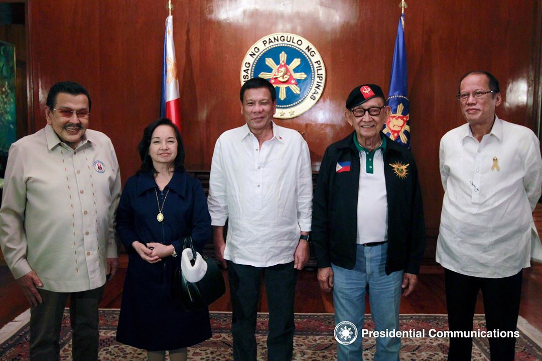 Duterte, 4 past presidents meet for national security concern