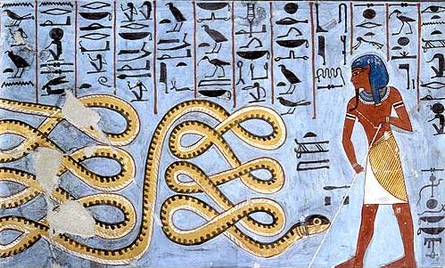 Apophis being contained by Atum