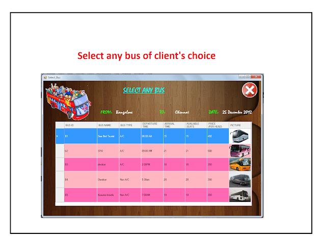 3 Customer Bus Reservation