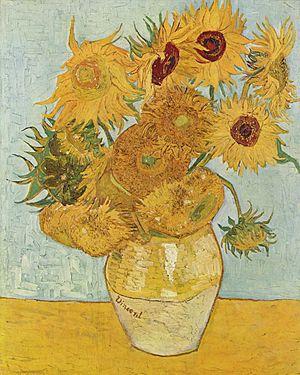 "Quadro ""Doze Girassóis numa Jarra"", Vincent Van Gogh"
